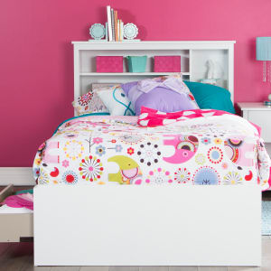 Vito - Mates Bed With Bookcase Headboard Set