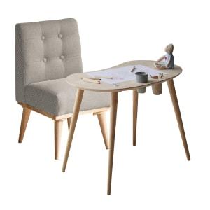 Sweedi - Ensemble table pour enfants en bois solide et chaise rembourrée