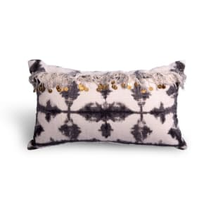 Madras - Pillow with Sequins and Fringe
