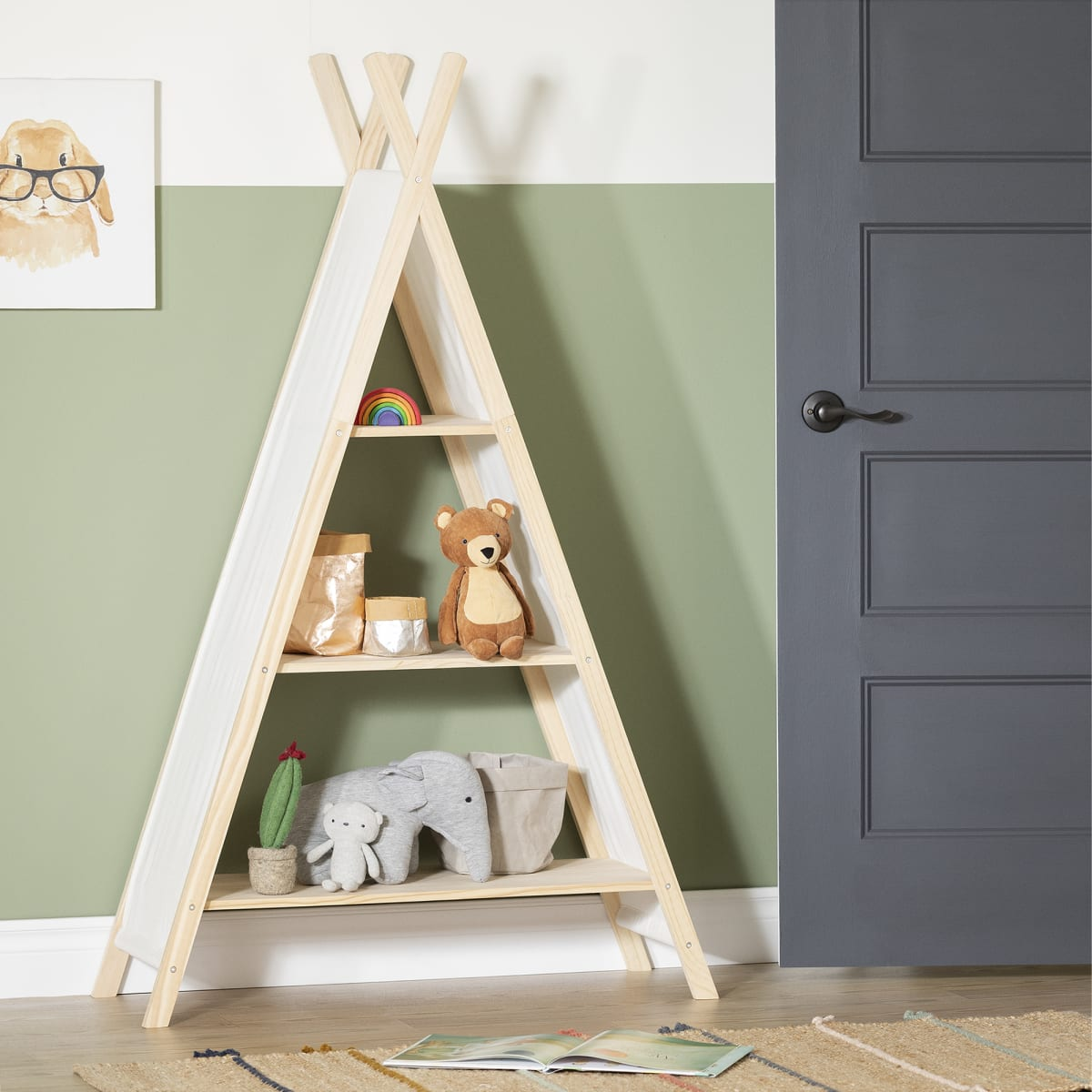 Sweedi Teepee Shelving Unit Play Furniture Playroom Baby And Kids Products South Shore Furniture Us Furniture For Sale Designed And Manufactured In North America