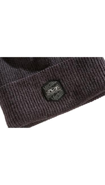 Classic Ribbed Cuff Knit Beanie-  Dark Grey, , large