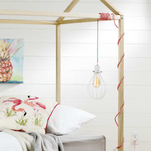 Plog-it - Teardrop shade with cord for wall outlet