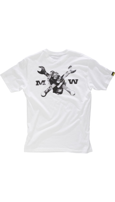 Race Division T-Shirt, White, large