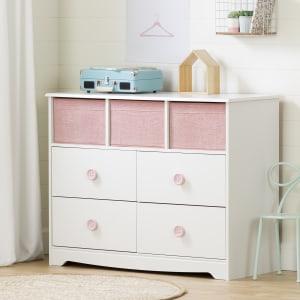Sweet Piggy - 4-Drawer Dresser with Baskets
