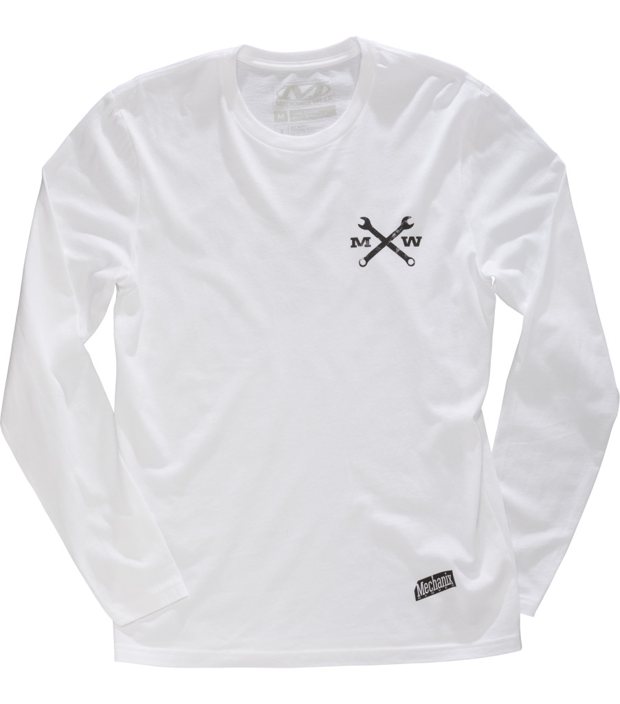 Race Division Long Sleeve Shirt, White, large image number 0