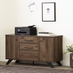 Helsy - 2-Drawer Credenza with Doors
