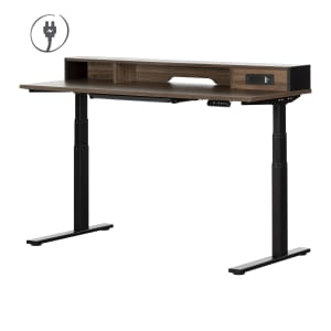 Helsy - Adjustable Height Standing Desk with Built In Power Bar