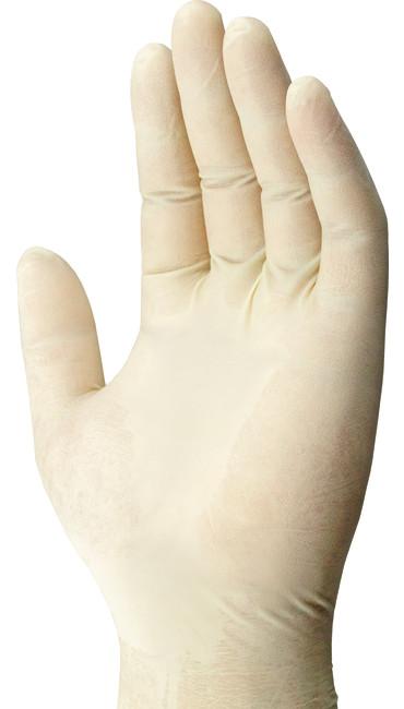 7 Mil Heavy Duty Latex Gloves 100-PK, White, large