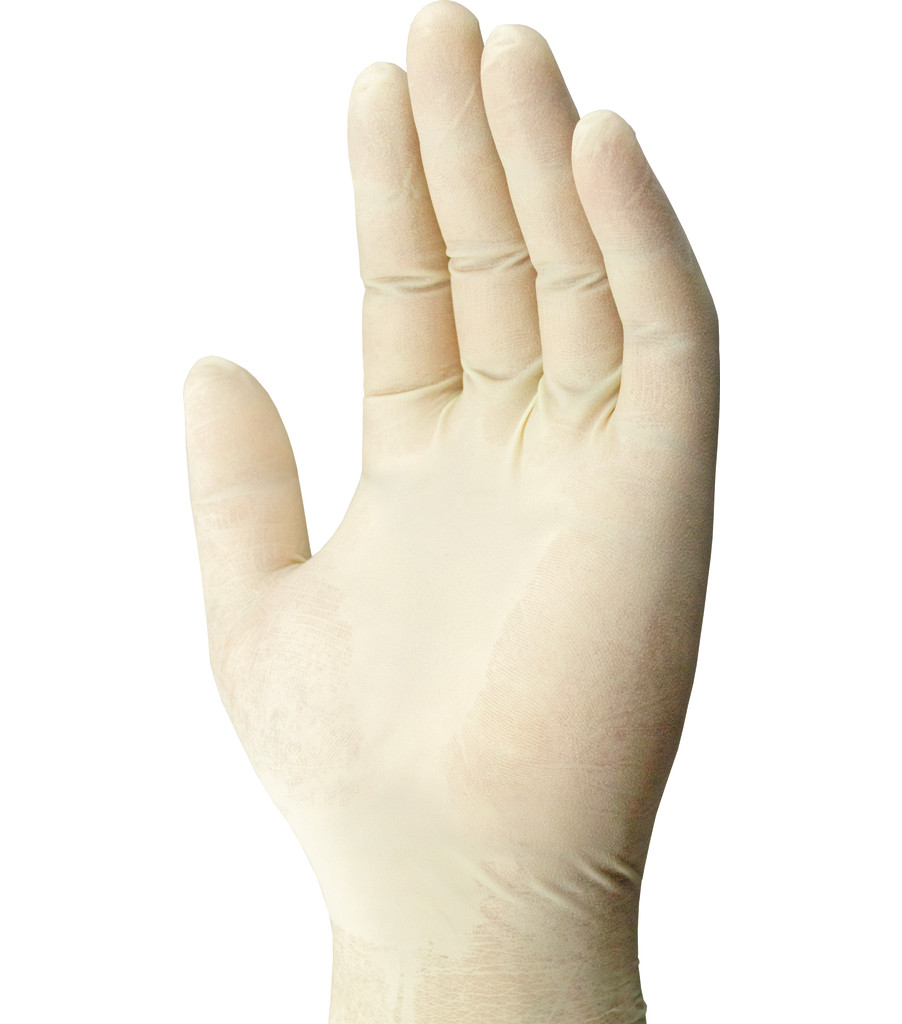 7 Mil Heavy Duty Latex Gloves 100-PK, White, large image number 1