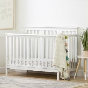 Cotton Candy - Baby Crib 4 Heights with Toddler Rail