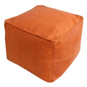 Baba - Pouf carré en cuir