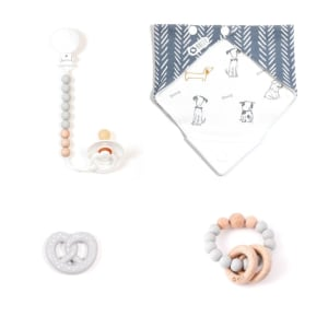 Elli - 4-Piece Gift Set for Babies All Gray