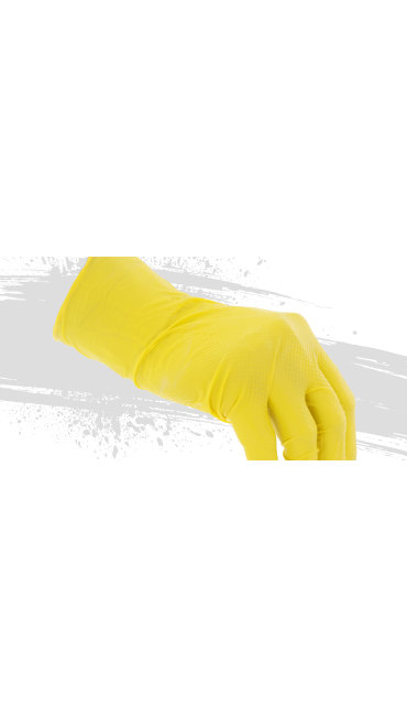 8 Mil Super Duty Nitrile Gloves 100-BX, Yellow, large