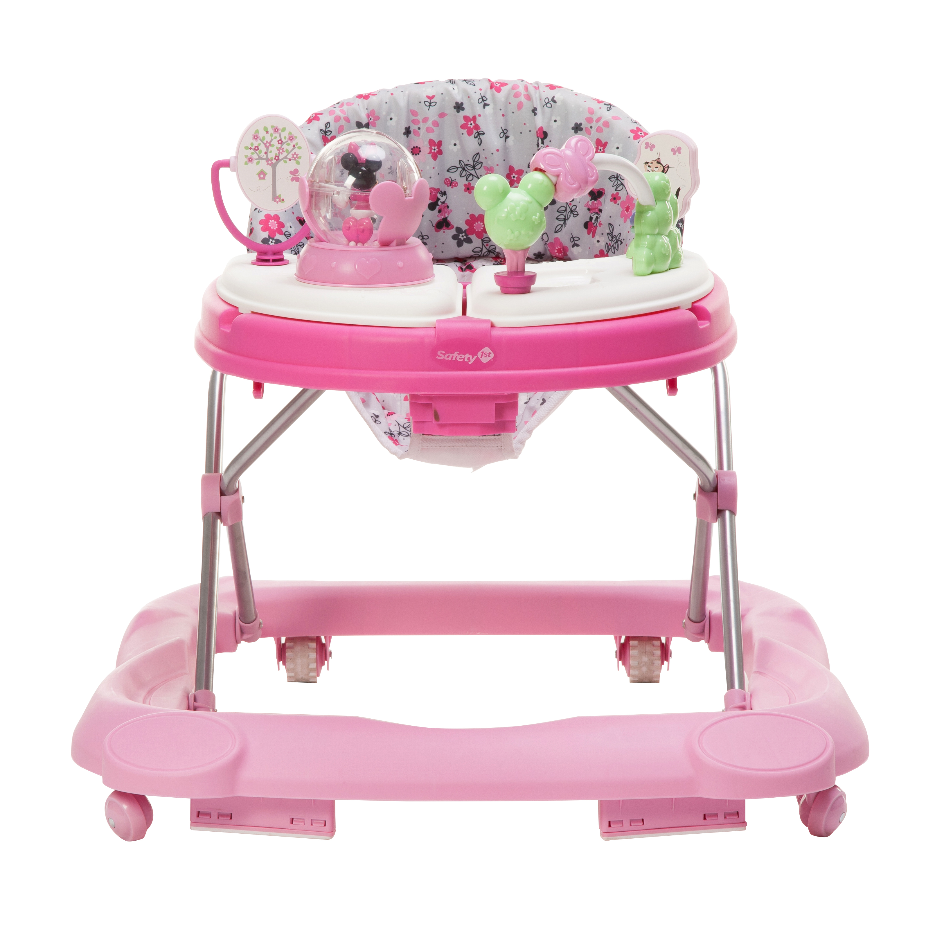 Disney Baby Minnie Mouse Music and Lights Baby Walker with Activity Tray Garden