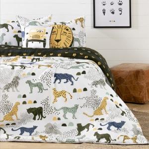 Dreamit - Kids Bedding Set Safari Wild Cats