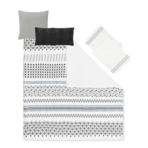 Lodge - Comforter, Cable-Knit Throw Pillow and Quilted Throw Pillow
