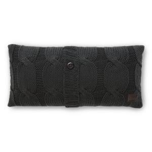 Lodge - Coussin en tricot avec bouton décoratif