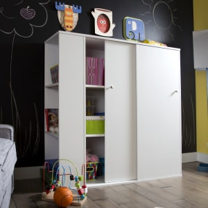 Crea - Kids Storage Cabinet with Sliding Doors