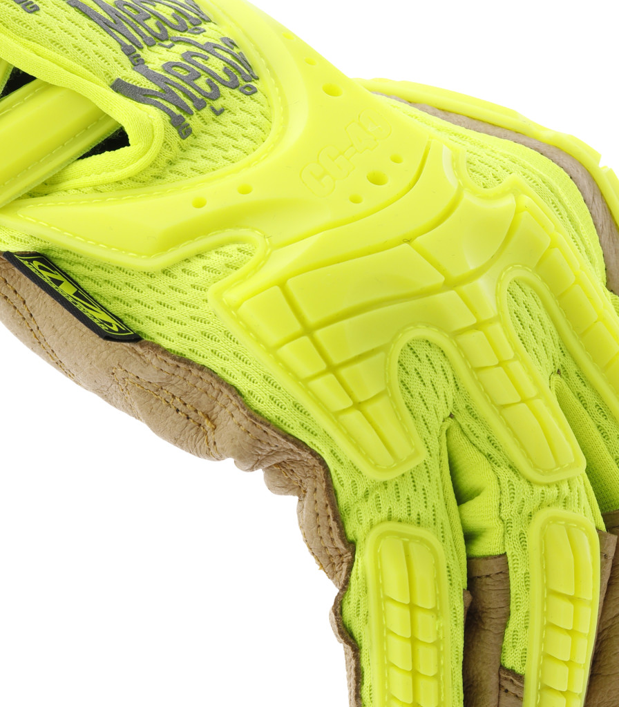Hi Viz Cg Heavy Duty Leather Impact Gloves Mechanix Wear