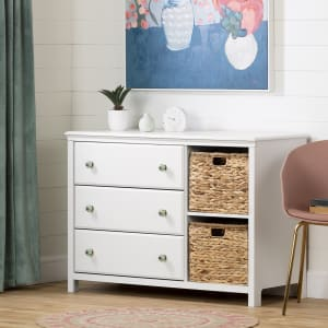 Balka - 3-Drawer Dresser with Baskets