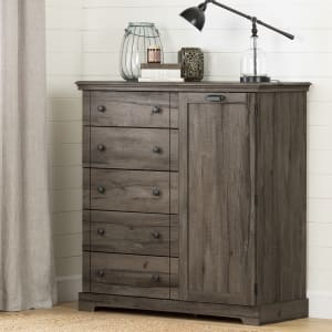 Avilla - Door Chest with 5 Drawers