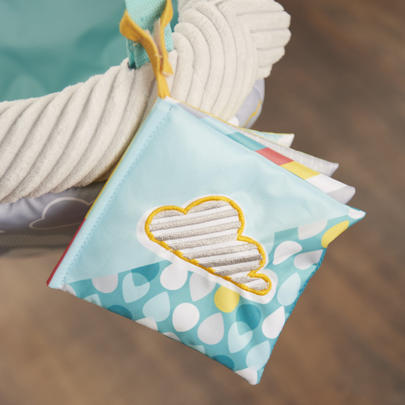 Door Jumper with 4 Removable Toys (Sweet Skies) Lifestyle Photo