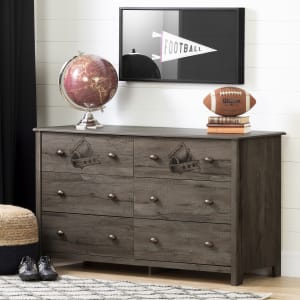 Vinbardi - Football 6-Drawer Double Dresser