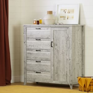 Lionel - Door Chest with 5 Drawers