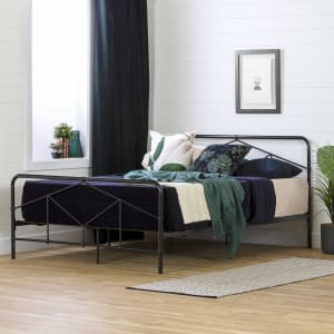Sazena - Geometric Metal Platform Bed