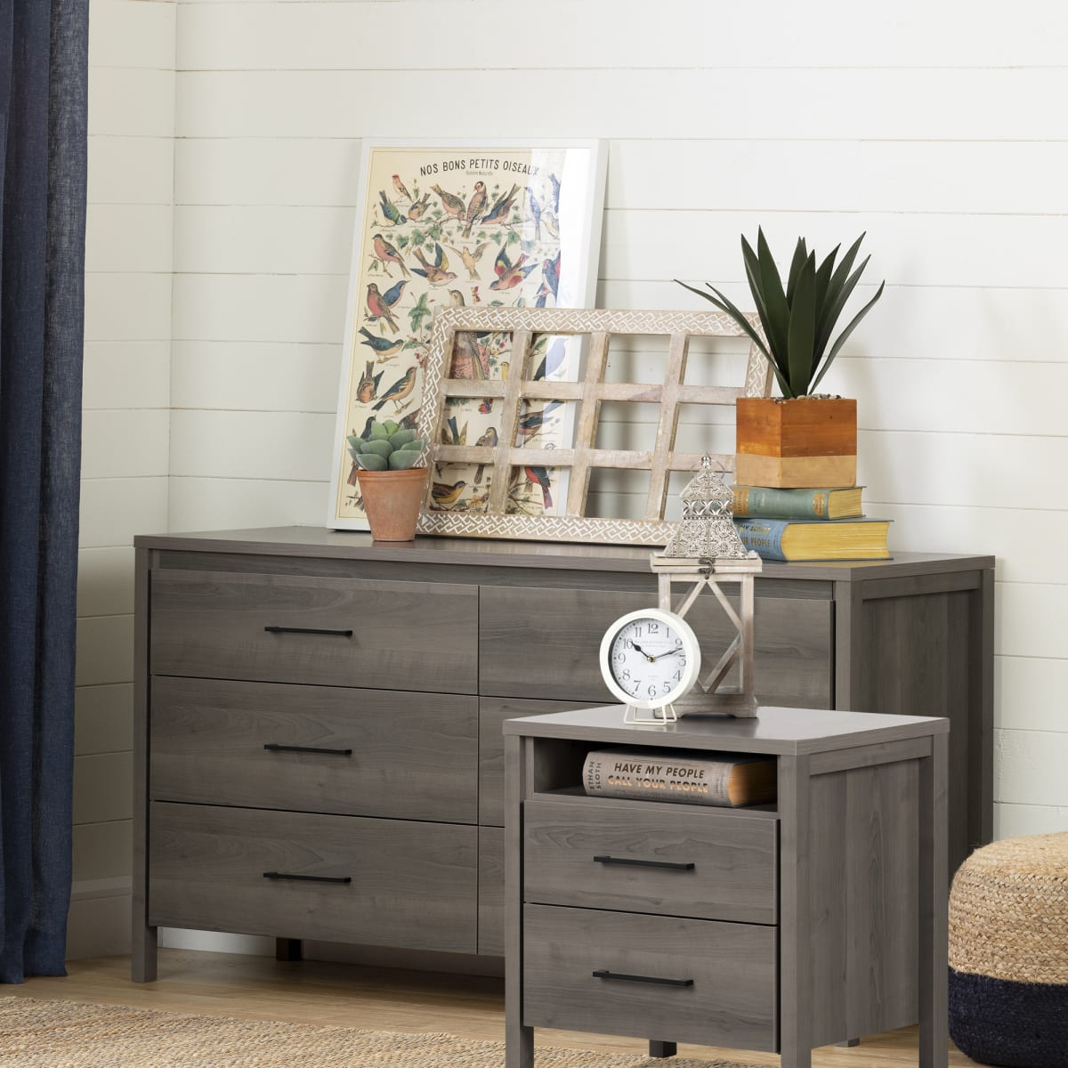 Gravity 6 Drawer Double Dresser And Nightstand Set Chest Master Bedroom Furniture Products South Shore Furniture Us Furniture For Sale Designed And Manufactured In North America