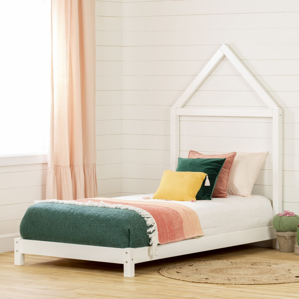 Sweedi Bed With House Frame Headboard Bed Kids Bedroom Baby And Kids Products South Shore Furniture Us Furniture For Sale Designed And Manufactured In North America