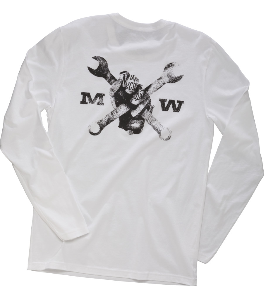 Race Division Long Sleeve Shirt, White, large image number 1