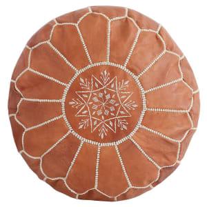 Baba - Pouf marocain en cuir