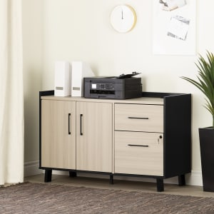 Kozack - 2-Drawer Credenza with Doors