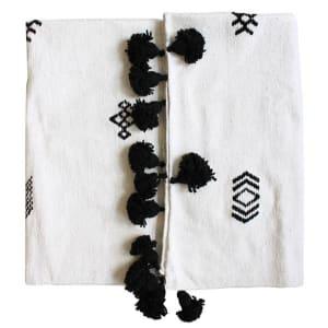 Baba - Jeté à pompons avec motifs berbères