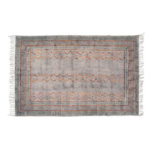 Mahal - Embroidered Carpet with Wool Accents