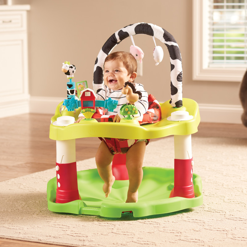 ExerSaucer® Bouncing Activity Saucer (Playful Pastures) Lifestyle Photo
