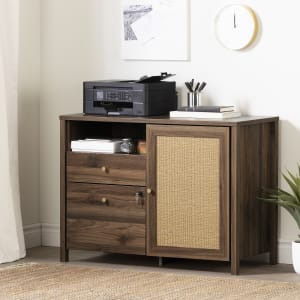 Talie - 2-Drawer Credenza with Open and Closed Storage