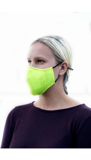 Hi-Viz Reusable Face Mask, Fluorescent Yellow, large