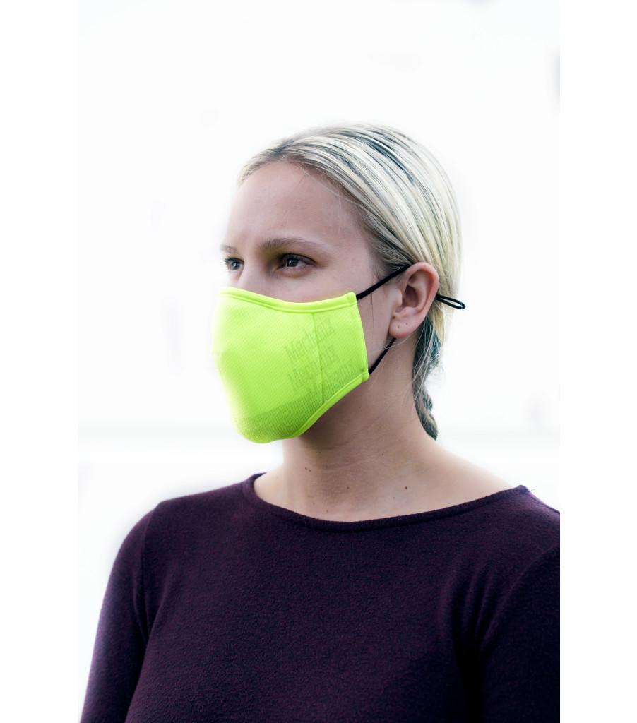 Hi-Viz Reusable Face Mask, Fluorescent Yellow, large image number 1