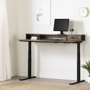 Talie - Adjustable Height Standing Desk with Built In Power Bar