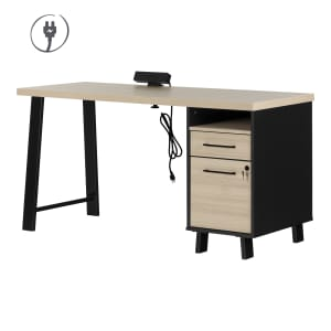 Kozack - Computer Desk with Power Bar