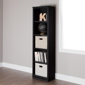 Morgan - 5-Shelf Narrow Bookcase