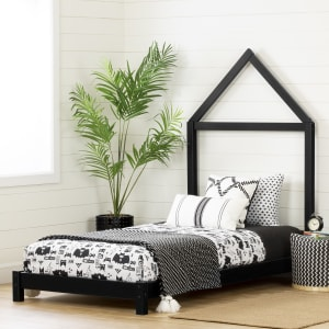 Sweedi - Bed with House Frame Headboard