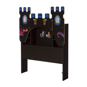 Vito - Bookcase Headboardwith Decals, Castle Themed