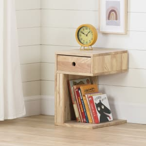 Sweedi - Solid Wood 1-Drawer Nightstand