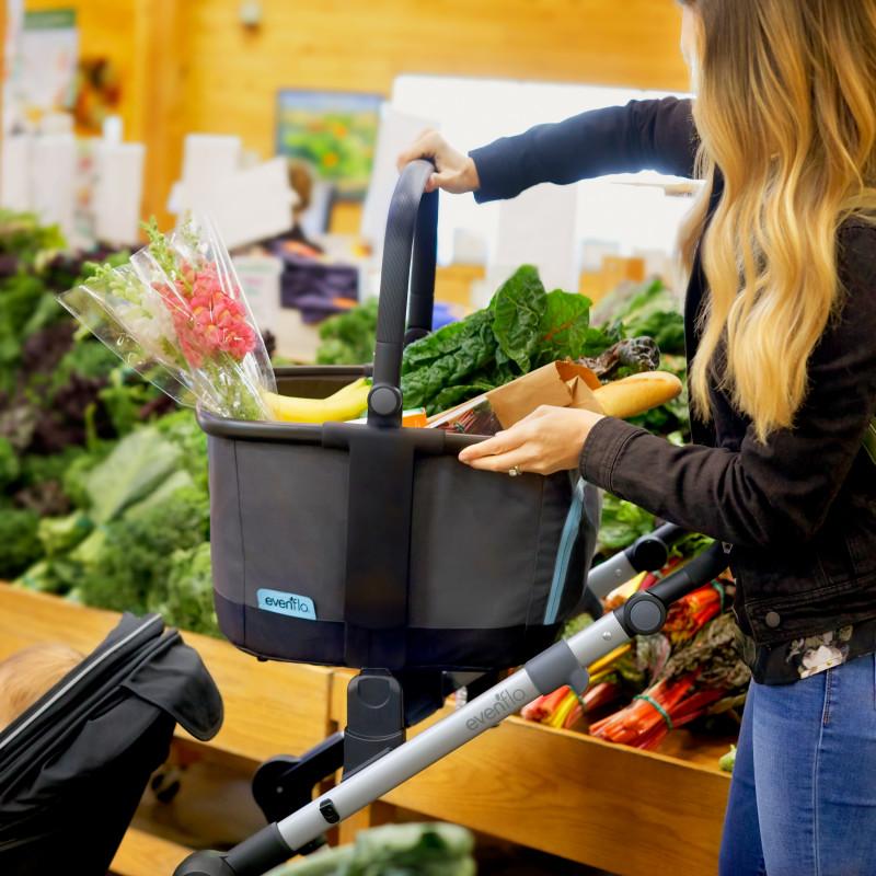 Pivot Xpand™ Stroller Market Basket (Gray Sky) Lifestyle Photo