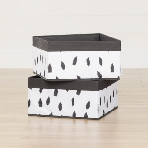 Storit - Baskets Feathers Print, 2-Pack