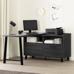 Kozack - L-Shaped Desk with Power Bar