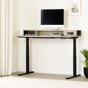 Zelia - Adjustable Height Standing Desk with Built In Power Bar
